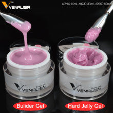 VENALISA 15ml LED Hard Jelly Gel 24 Color CANNI Nail Art Manicure 3D Mold Clear Pink Camouflage Jelly Builder Nail Extend UV Gel