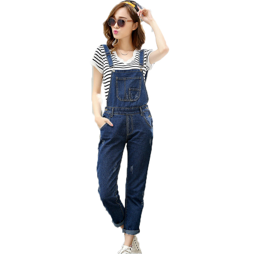 Womens Suspenders Pants Woman Casual Denim Overalls Plus Size 5XL Jeans Trousers Women Basic Jeans Suspenders 4XL 3XL Pant 2017Одежда и ак�е��уары<br><br><br>Aliexpress