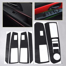 CITALL Car Interior Acc Door Frame Sticker Window Switch Carbon Fiber Sticker For Chevrolet Holden Cruze 2009 - 2012 2013 2014