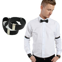 New 2015 fashion man Shirt Sleeve Holder adjustable Armband Elasticated arm band wedding bridegroom accessories arm warmer(China)