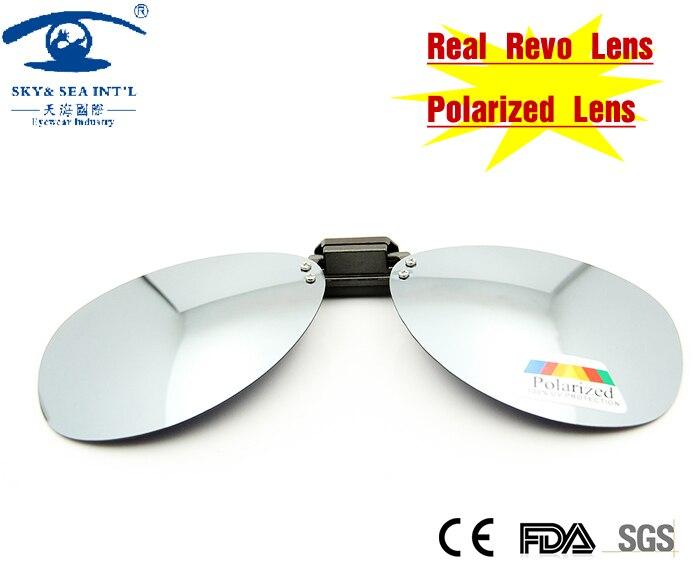 NEW Summer Style Silver UV Polarized Flip up Clip On Sunglasses Men Outdoors Driving Sunglasses Revo Lens<br><br>Aliexpress