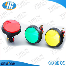 1 pcs Red Blue Yellow Green White LED Light Lamp 60MM Big Round Arcade Video Game Player Push Button Switch(China)