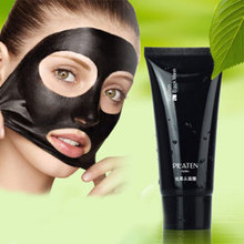 1PC Black Mask Pilaten Face Mask Tearing Style Deep Cleansing Oil Skin Blackhead Acne Remover Strawberry Nose Black Mud Mask 60g(China)