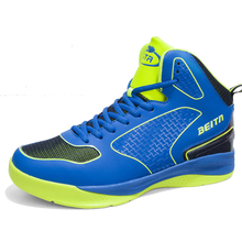 Brand Basketball Shoe 2017 High Top Footwear Blue/White Professional Basketball Shoe Training Men Boots Leather Scarpe Da Basket