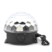 KTV stage lights flash lamp light magic crystal ball wedding radium laser light Christmas holoday musical box(China)