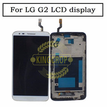 For LG G2 LCD D802 LCD Display Screen With Touch Screen Digitizer and Frame Assembly Black + Tools Free Shipping