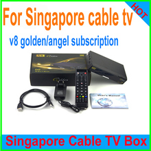 Renew Yearly 1 year cccam wcam subscription for the latest starhub tv box V8 golden/V8 angel/v9 pro Singapore Cable TV Box HD(China)