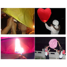 Chinese Traditional Love Heart KongMing Sky Lanterns of Wishing Lamp Cute Love Heart Sky Lantern For Birthday Party