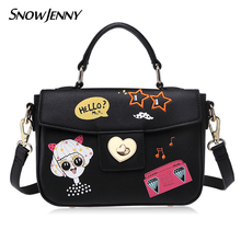 Women Shoulder Bags Female Messenger Bag Handbags Totes Borsa SnowJenny SJ Brand Italy Handicraft Cartoon Hip Hop Girl(China)