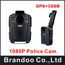 32GB Police Cam DVR Hands Free Police Body Worn Camera HD 1080P with GPS function