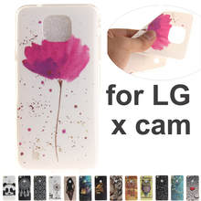 18 Pattern Cute Cartoon Case sFor LG X Cam K580 K580Y K580ds Anime Print Ultra Thin Soft TPU Silicon Cover for Coque LG X Cam