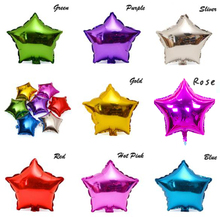 Hot 10 pcs/lot 10'' five-pointed star shaped foil Balloons Helium Metallic pure color balloons Wedding birthday party decoration(China)