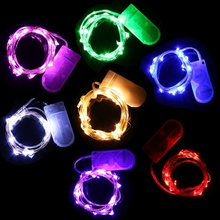 20 LED String Light Waterproof 2M Colorful Silver Wire LED Fairy Light Christmas Wedding Party Decor LED Strip Battery(China)