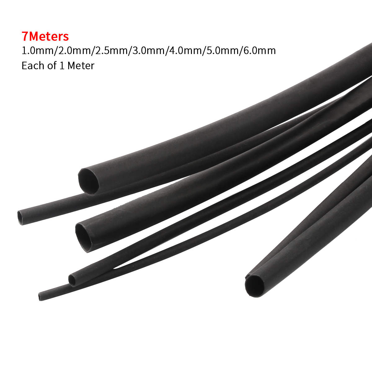 Sleeving //Tubing 6mm BLACK flexible PVC Sleeve 10 metres