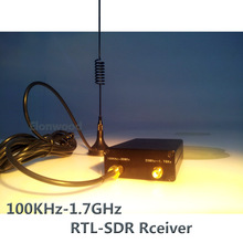 Ham Radio Receiver 100KHz-1.7GHz full Band UV HF RTL-SDR USB Tuner Receiver R820T+8232 Ham Radio Software Defined Radio RTL SDR(China)