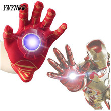 YNYNOO New Iron Man Toys Anime The Avengers Ironman Glove Emitter Sound Light Action Figures Creative Toys Chirstmas Gift OT078