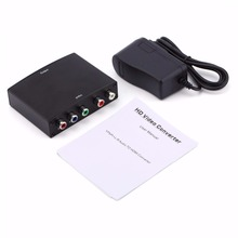 RGB YPbPr Video + R/L Audio Adapter Converter HD TV To HDMI 1080P Adapter EU US UK  free shipping