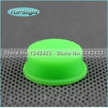 5 PCS 15mm x 8mm Silicone Switch Cap for 501B/502B electronic Flashlight DIY Parts Green Fluorescent