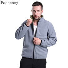Facecozy Men Autumn Outdoor Camping Fleece Jacket Winter Male Stand-Collar Windproof Fishing Coat(China)