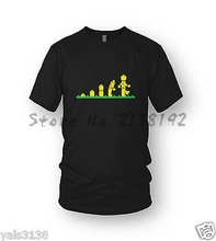 LEGO T-Shirt LEGO Evolution MEN'S Awesome, LEGO Movie,Gift Idea, Toys Blocks men's top tees(China)