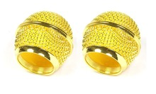Bolymic 2 x Gold color Mesh microfoon Microphone Grille Fits Shure BETA 58 SM58 Microphone