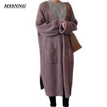 Harajuku larga damas moda 2018 primavera larga del suéter del Knit de las mujeres  abrigo chaqueta 367595d355e2