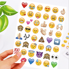 1pcs (48 stickers)  Fashion Cute Lovely Smile Cut Emoji emoticons stickers For Notebook Message High Quality Funny Creative