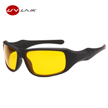 UVLAIK Brand Day Night Vision Sunglasses Men Elastic Frame Yellow Lens Glasses Mens Driving Goggles Outdoor Protect Eye Glasses(China)