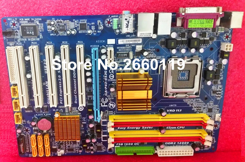 Desktop motherboard for GIGABYTE GA-P43-ES3G LGA775 DDR2 system mainboard fully tested and 100% working<br><br>Aliexpress