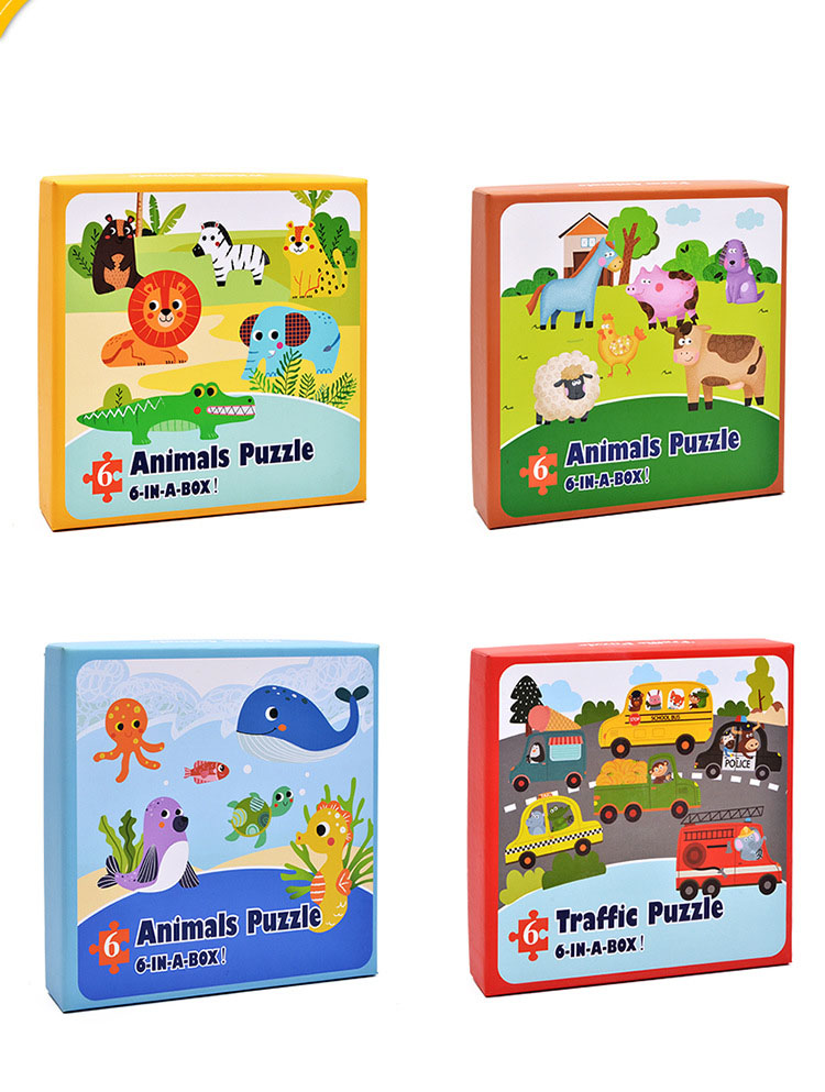 Baby Toys Cartoon Animal Paper Children Puzzle Children early learning Montessori education toys Puzzle for children 3 years 1