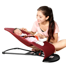 2018 New Style Newborns Folding Bed Baby Rocking Chair Baby Cradles Bed Portable Balance Chair Baby Baby Bouncer Infant Rocker(China)