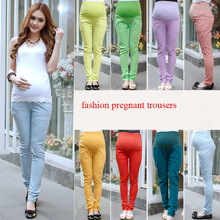 Fashion pure cotton maternity women trousers for pregnant 2015 new design(China)
