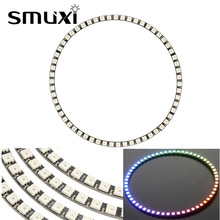 Smuxi Ring RGB LED Lamp Panel Wall Clock 60WS2812 5050 SMD RGB LED Light Panel for Arduino 5V 1A
