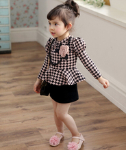 015 Wholesaler New Baby girl dress autumn Cotton Girls Plaid Dresses Kids fashion  new arrival retail dress party  clothing