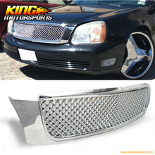 For 00-05 Cadillac Deville Diamond Mesh Style Front Grille Grill ABS Chrome USA Domestic Free Shipping Hot Selling