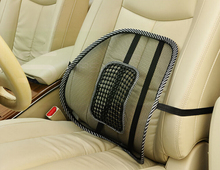 Car Seat Black Lumbar Support Mesh Ventilate Cushion Chair Back Massage Mat  Pad for Office Car seat home and truck chairs