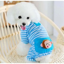 pet stripe bear pet sleepwear dog summer clothes teddy at home clothing
