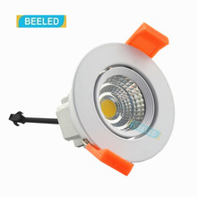 Dimmable LED COB ceiling light 3W free shipping China Post with track led lamp bulb led spotlight 110V 220V Aluminum body(China)