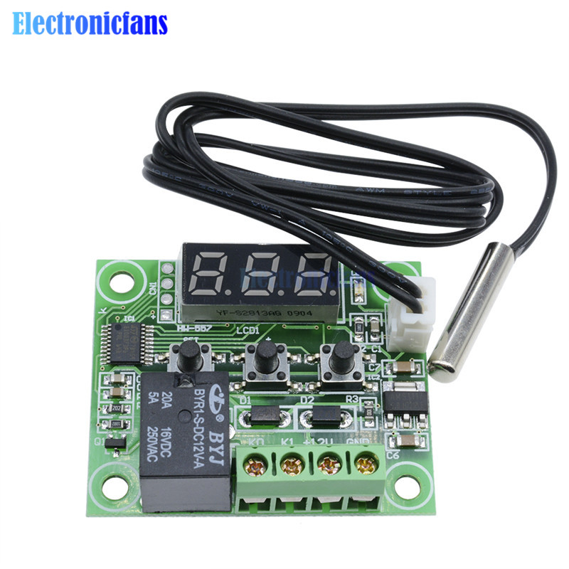 DC 12V Digital LED Thermostat Temperature Control Switch Module XH-W1209 VE PD