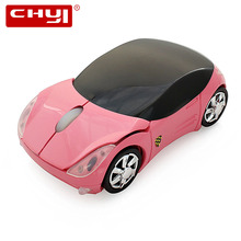 CHYI Wireless Mini Car Mouse For Kids 1600DPI Optical Computer Mice Cute Pink Muase For Girl Laptop PC(China)