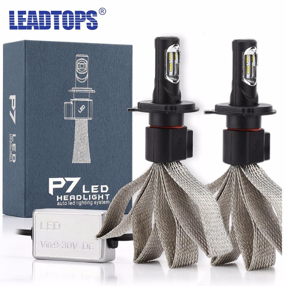 LEADTOPS Car Headlights H7 H4 H13 H1 H3 LED H8 H11 LEDs 9005 HB4 9006 9007 60W 6000k Auto Front Bulb Automobiles Headlamps ED <br>