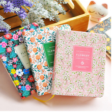 Creative PU Leather Floral Flower Schedule Book Diary Weekly Planner Notebook School Office Writing Pads Stationery Supplies(China)