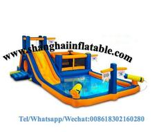 children amusement park water slides swiming pool