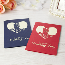 3D Pop Up Greeting Card Wedding Flower Arch Sweety Wedding Invitation Card Postcards Wishes Gifts For Lover