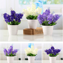 Hot New High Quality Lovely Dark Purple 5 Heads Artificial Fake Hyacinth Flower Bedroom Home Office Hotel Party Decor