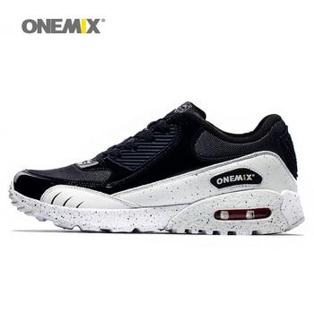 Nueva llegada onemix entrenador zapatos para hombre deporte zapatos para caminar al aire libre popular creciente running shoes tamaño 36-45 1065