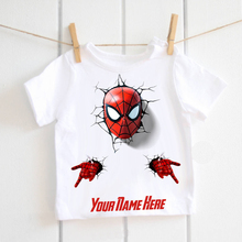 Spider Man T-shirt Baby boys fashion personalised Tshirt marvel the avengers print tee shirt kids girls birthday outfit Tops