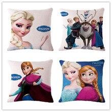Beautiful Cartoon Barbie Doll Cushion Printed Linen Family Affection Sofa Car Seat Home Decorative Throw