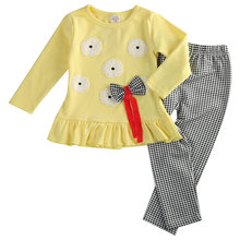 Cute Infant Toddler Baby Girls Casual T shirt Peplum Dress Legging Pants 2PCS Outfit Sets Clothes