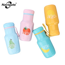 Navigate Mini Water Kids Drink Bottle Thermoses Flask Vacuum Thermos Mini Water Bottle Stainless Baby Cup 300ml Cute Travel Mugs(China)